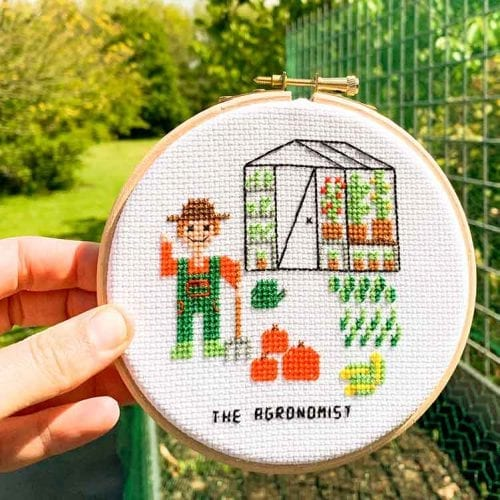 14147 agronomist cross stitch pattern home veggie grower