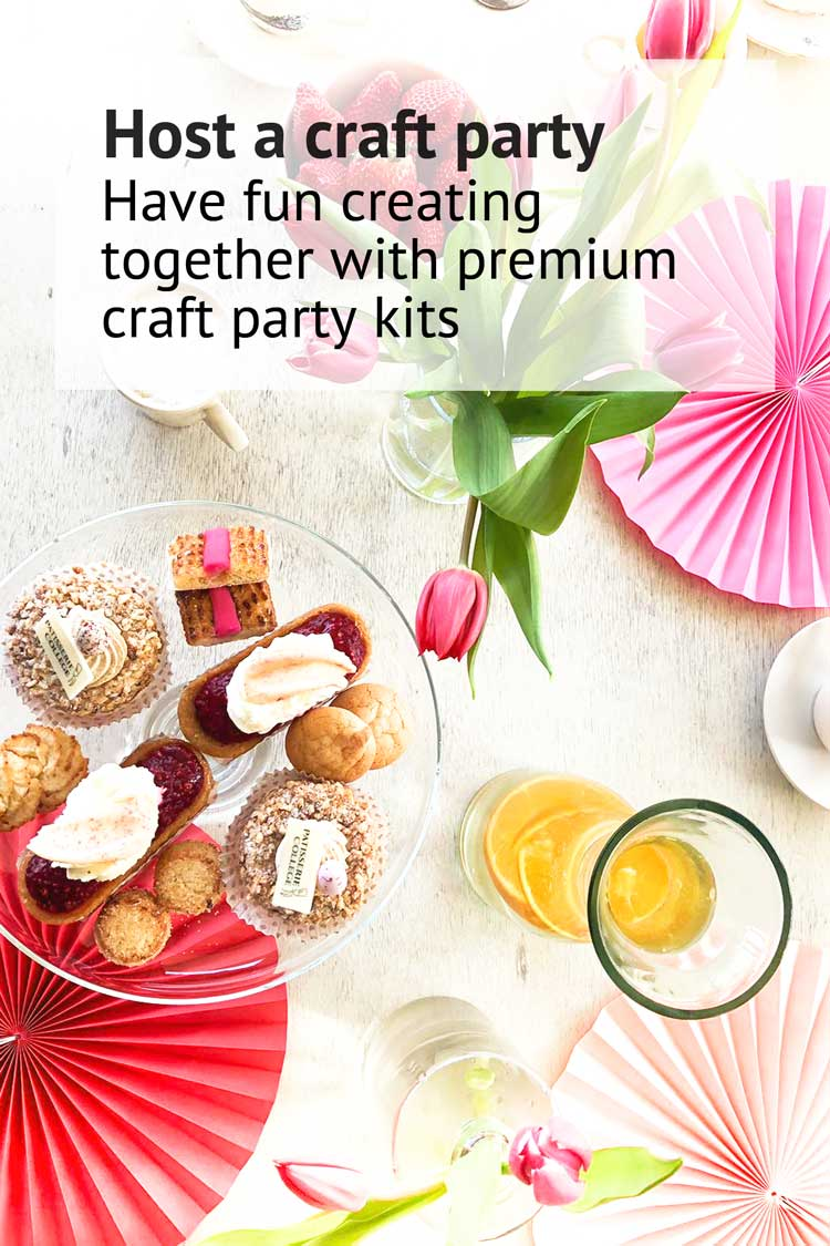 Host a craft party with premium cross stitch and punch needle craft party kits