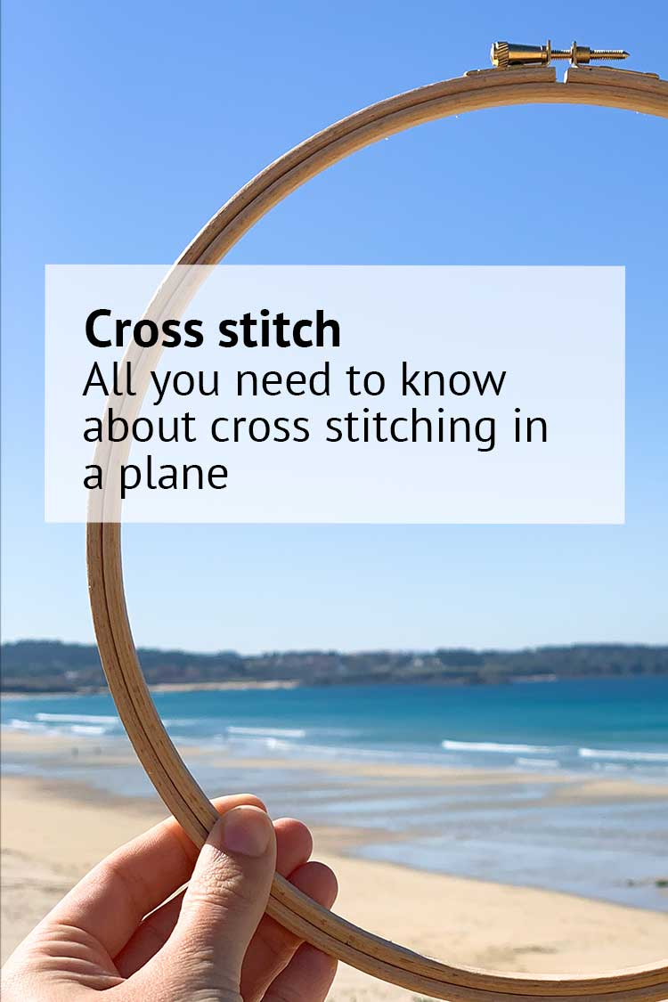 blog cross stitching in a plane