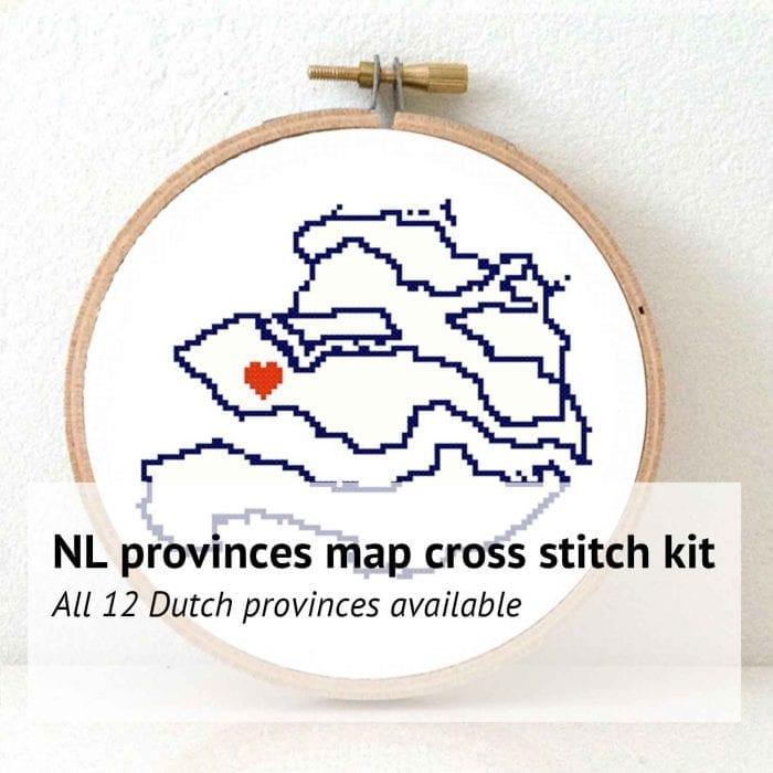 Netherlands provinces cross stitch kit