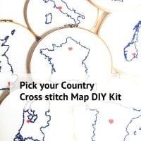 stitch a map countries cross stitch kit