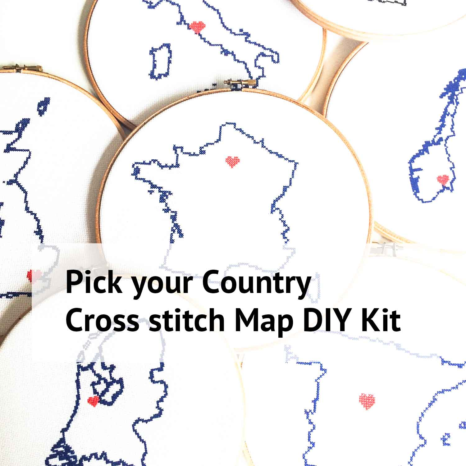 stitch a map countries cross stitch kit