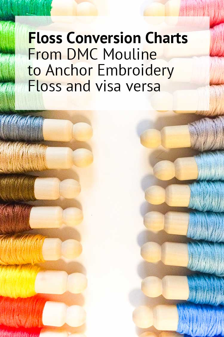 floss conversion chart dmc to anchor embroidery floss