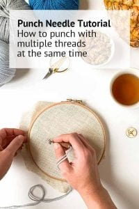 punch needle with multiple threads instructions