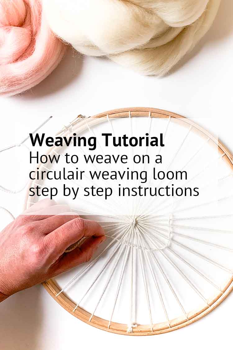 blog how to weave on a circulair loom tutorial step by step instructions