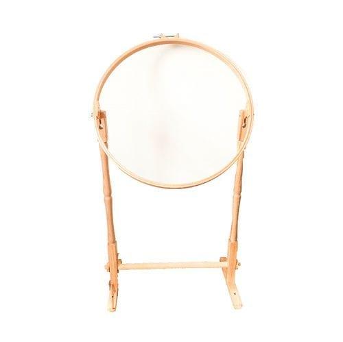 wooden embroidery hoop floor stand 53 cm quilt hoop