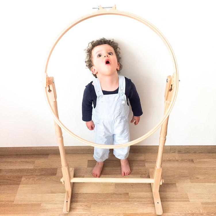 quilt embroidery hoop floor stand