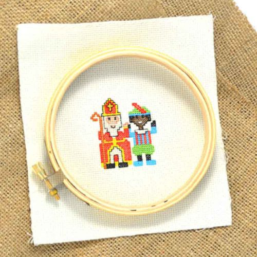Sinterklaas cross stitch pattern for beginners