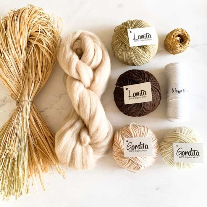earth ecological weaving yarn pack