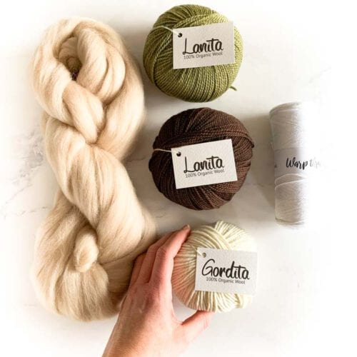 ecological weaving yarn pack khaki chocolate