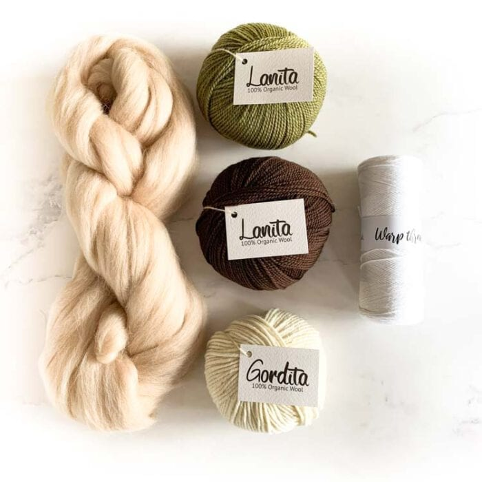 ecological weaving yarn pack khaki chocolate