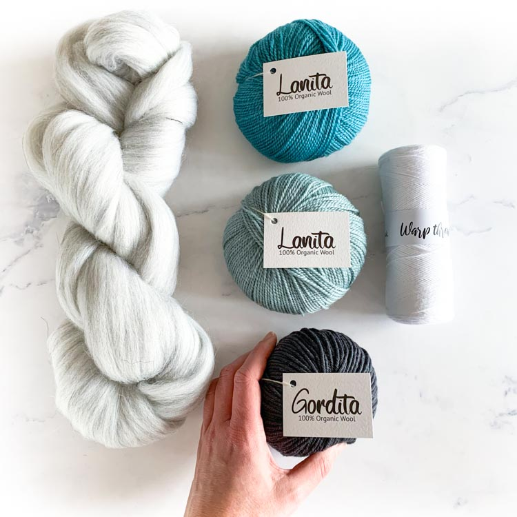 ecological weaving yarn pack ocean gray