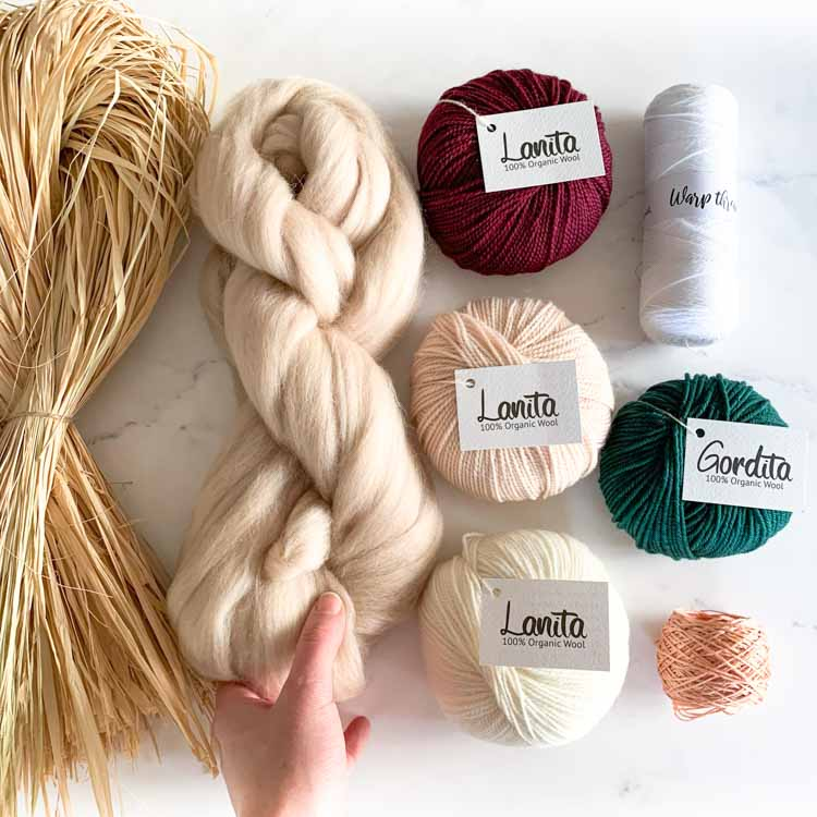 ecological weaving yarn pack soft forest berry