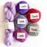 Weaving yarn pack purples