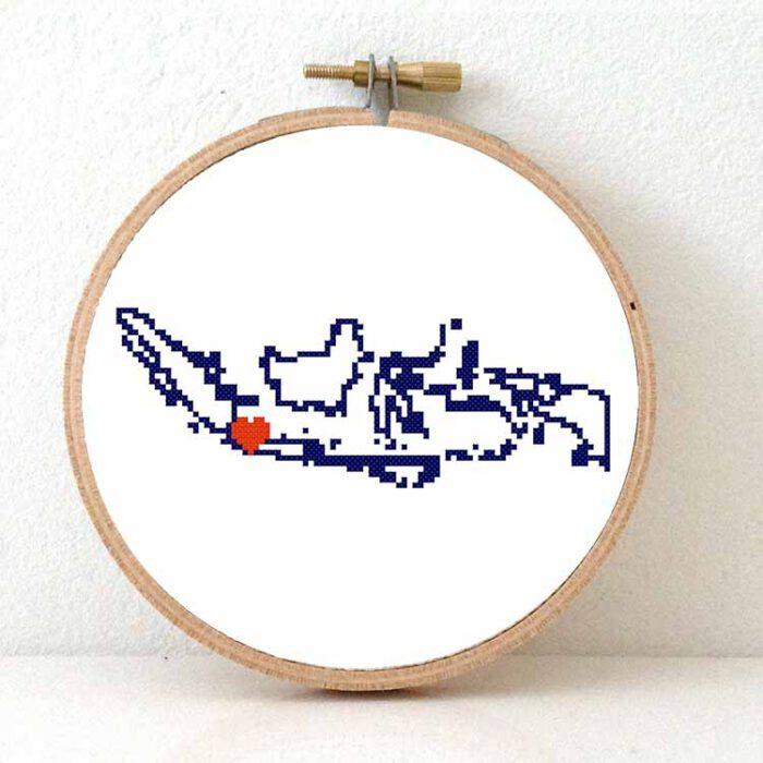 Stitchamap - indonesia cross stitch pattern with Jakarta