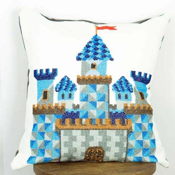 Castle cushion cross stitch kit