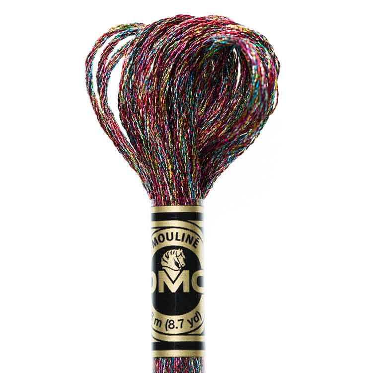 DMC Light Effects Floss per Skein of 8m - E130 Metallic party mix