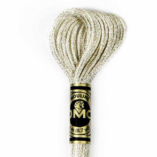 DMC Light Effects Floss per Skein of 8m - E168 Metallic Silver