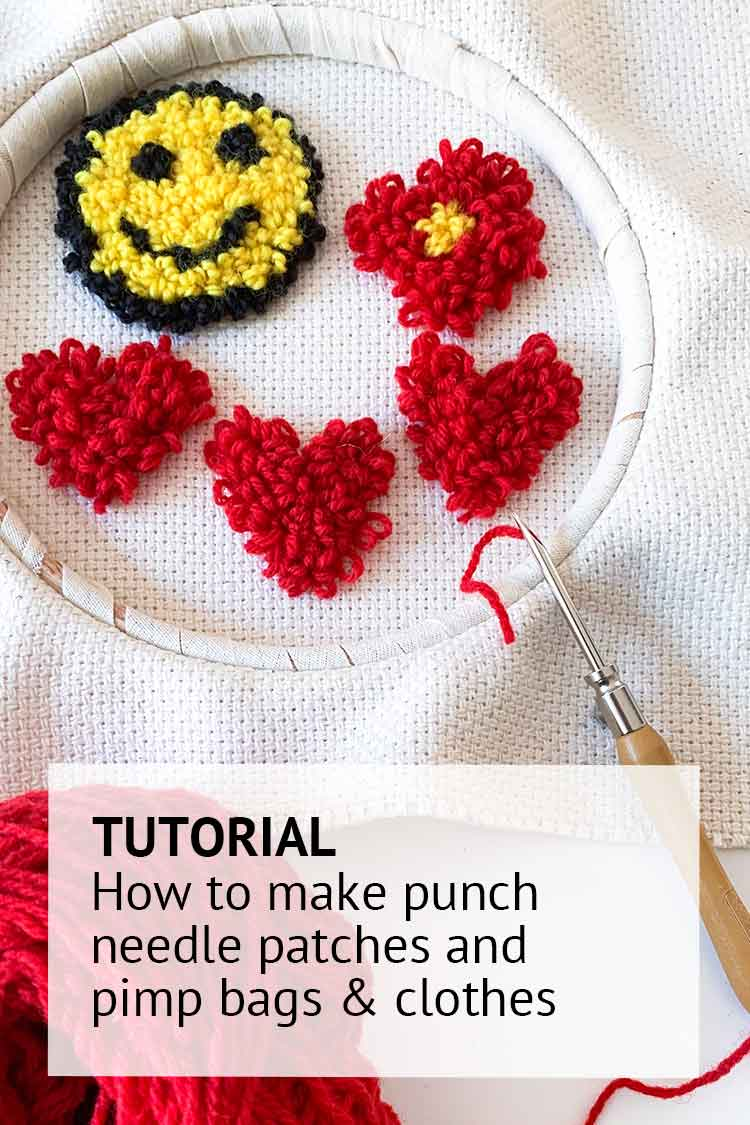 Tutoiral how to make punch needle patches