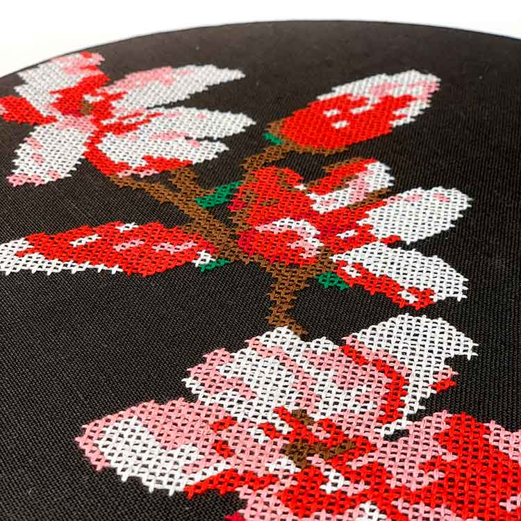 Magnolia cross stitch kit