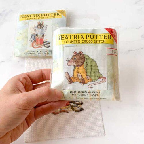 SALE beatrix potter cross stitch kit-3