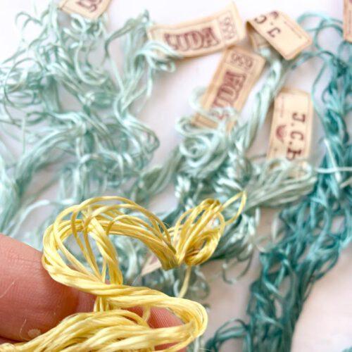SALE vintage silk thread 46