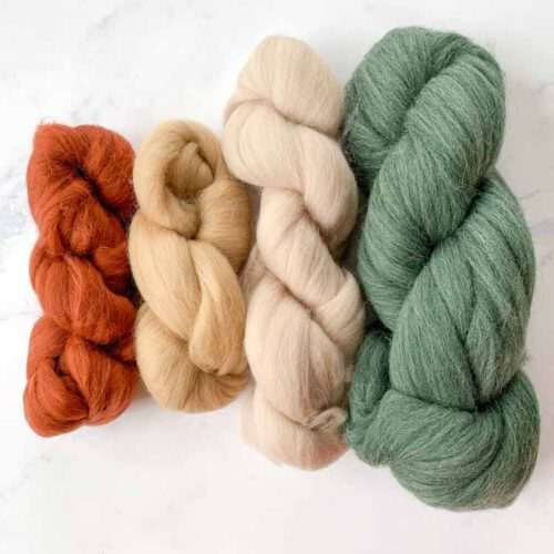 SALE wool roving 5