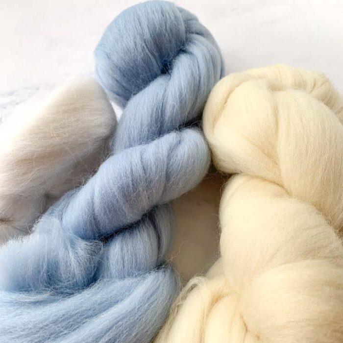 SALE wool roving 6-2