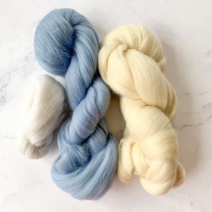 SALE wool roving 6