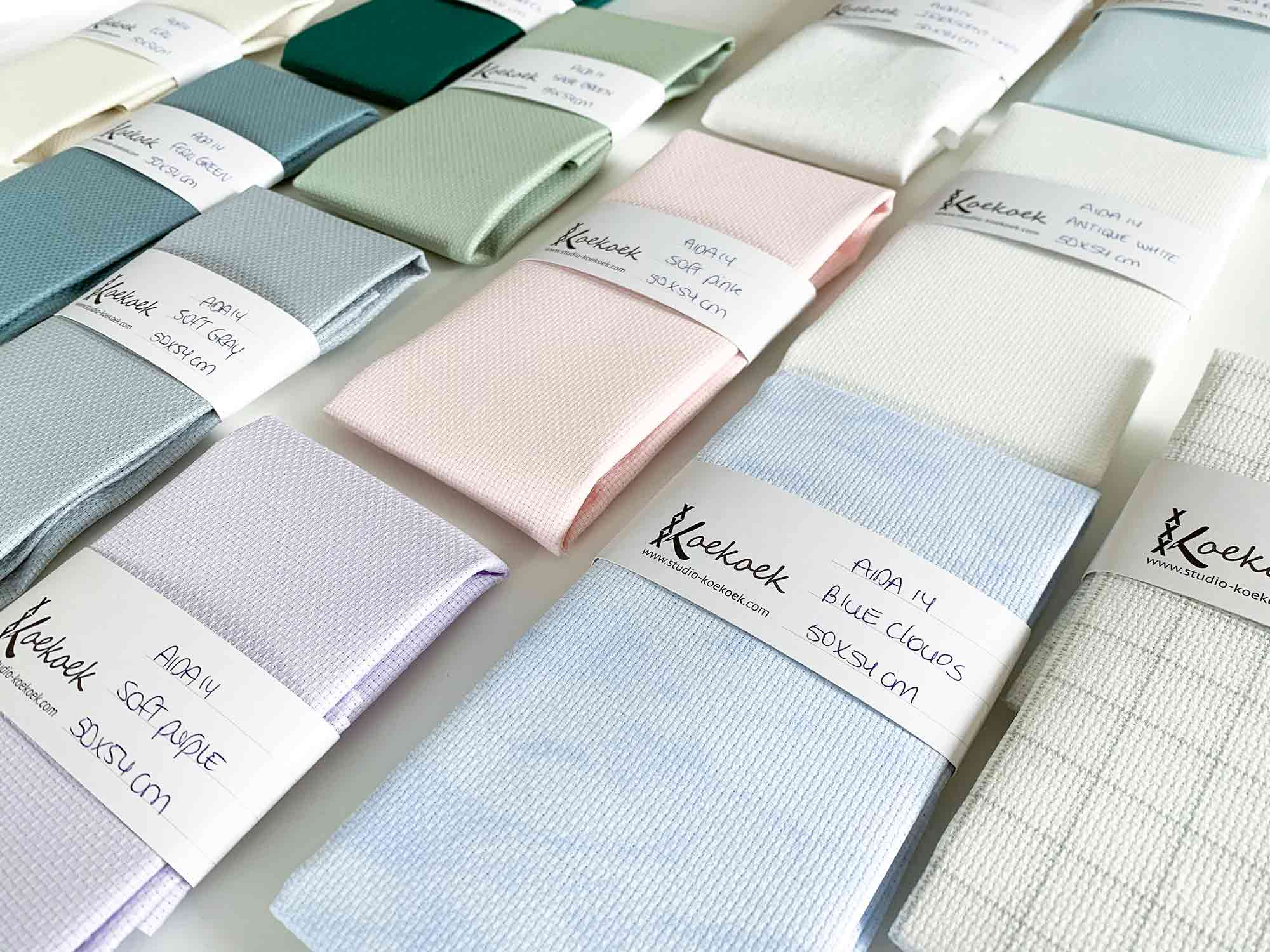 aida fabric colors