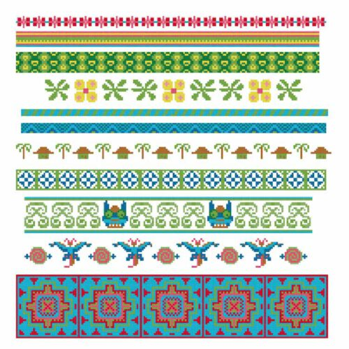border cross stitch patterns for the edge of your fabric