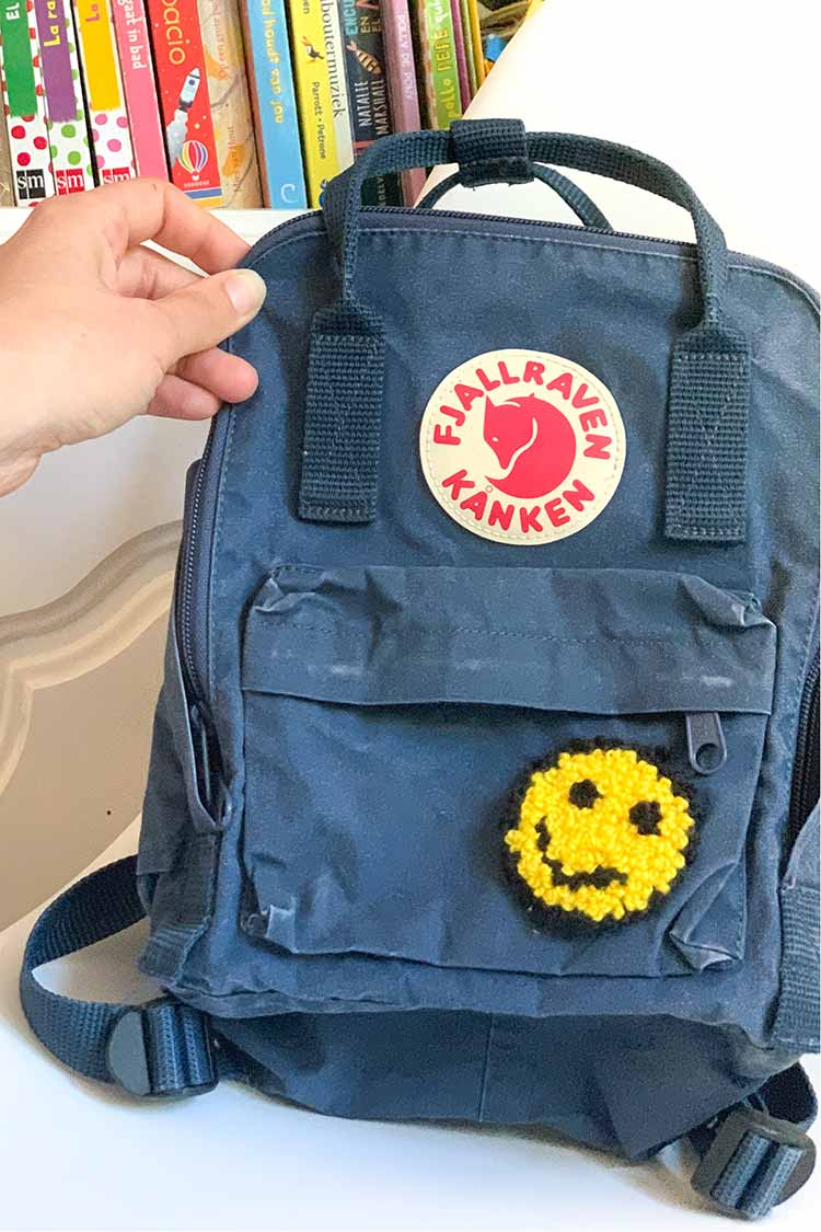 completed punch patch backpack