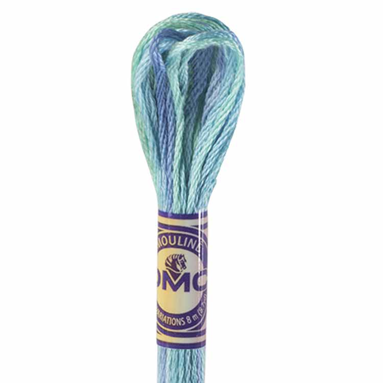 DMC Color Variations Embroidery floss skeins   Multi-colored embroidery yarn per skein of 8m - DMC 4030 Monet's Garden