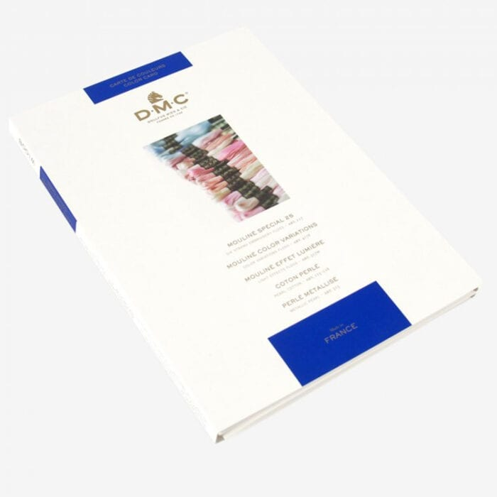 dmc embroidery floss color card with real floss