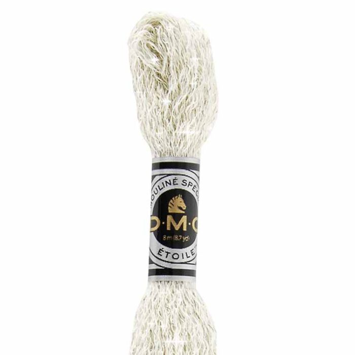 DMC Etoile Mouline Embroidery Floss, per skein of 8m - C-ecru