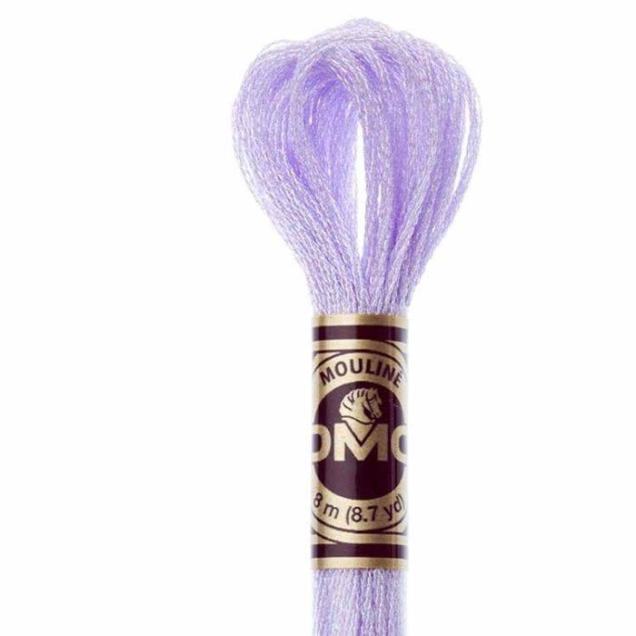 DMC Light Effects Floss per Skein of 8m - E211 Metallic soft purple
