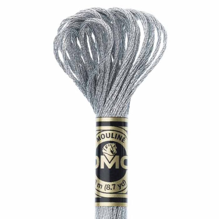 DMC Light Effects Floss per Skein of 8m - E415 Metallic Pearl Gray