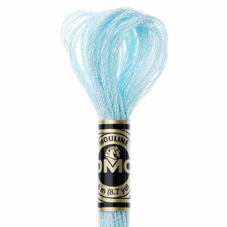 DMC Light Effects Floss per Skein of 8m - E747 Metallic Sky Blue