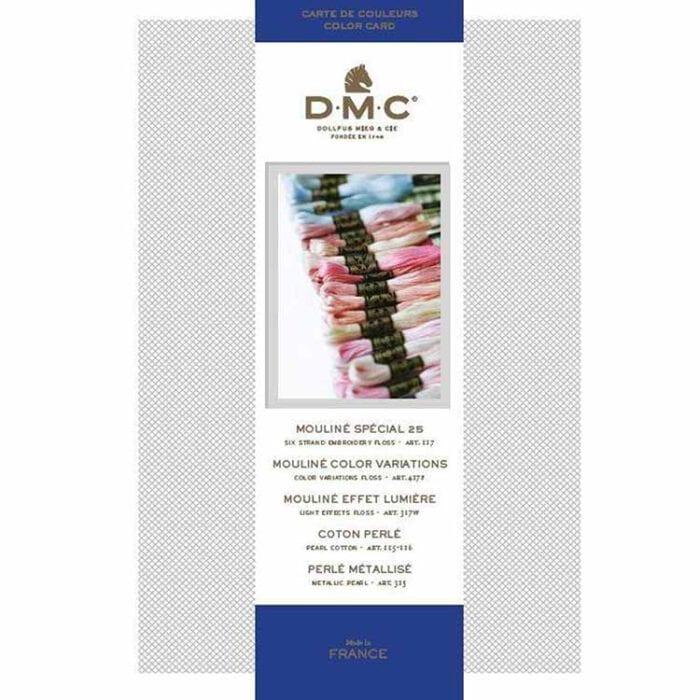 dmc floss color card with real floss