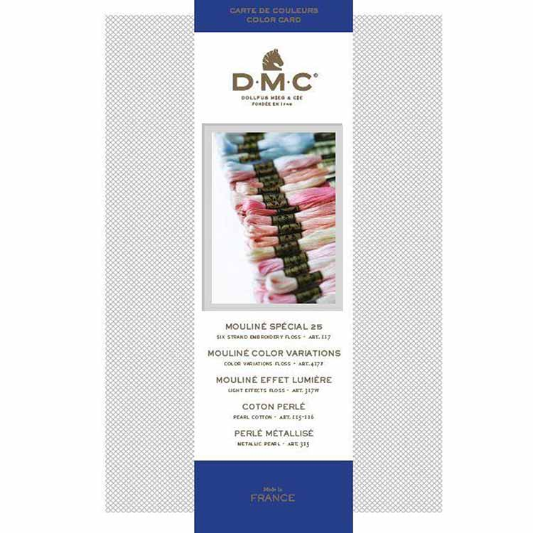 dmc floss color card with real floss