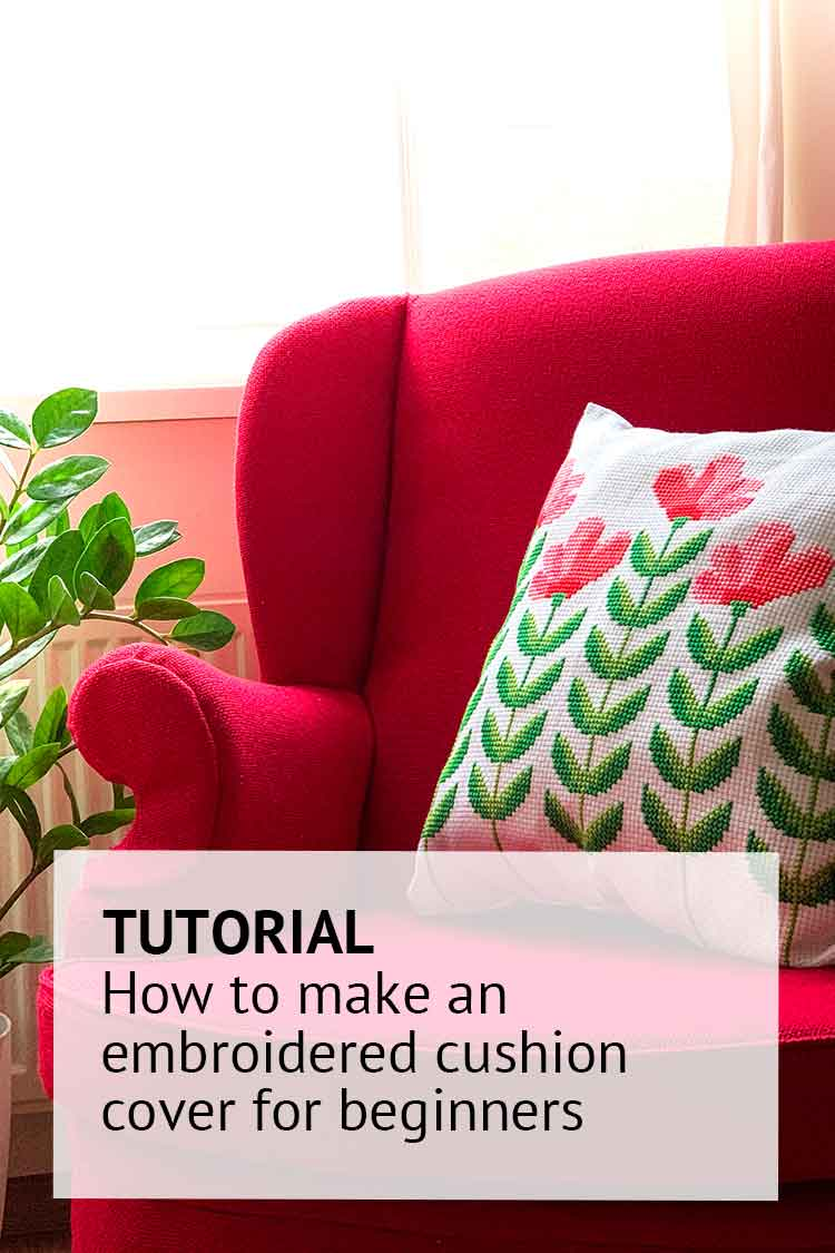 how to make a cushion cover instructions