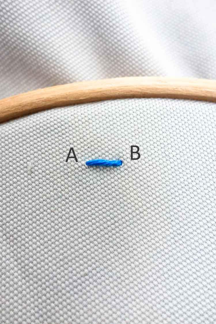 how to make a satin stitch