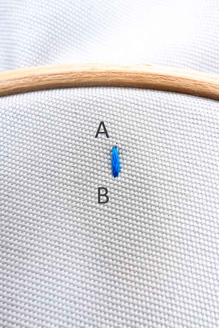 how to make a split stitch