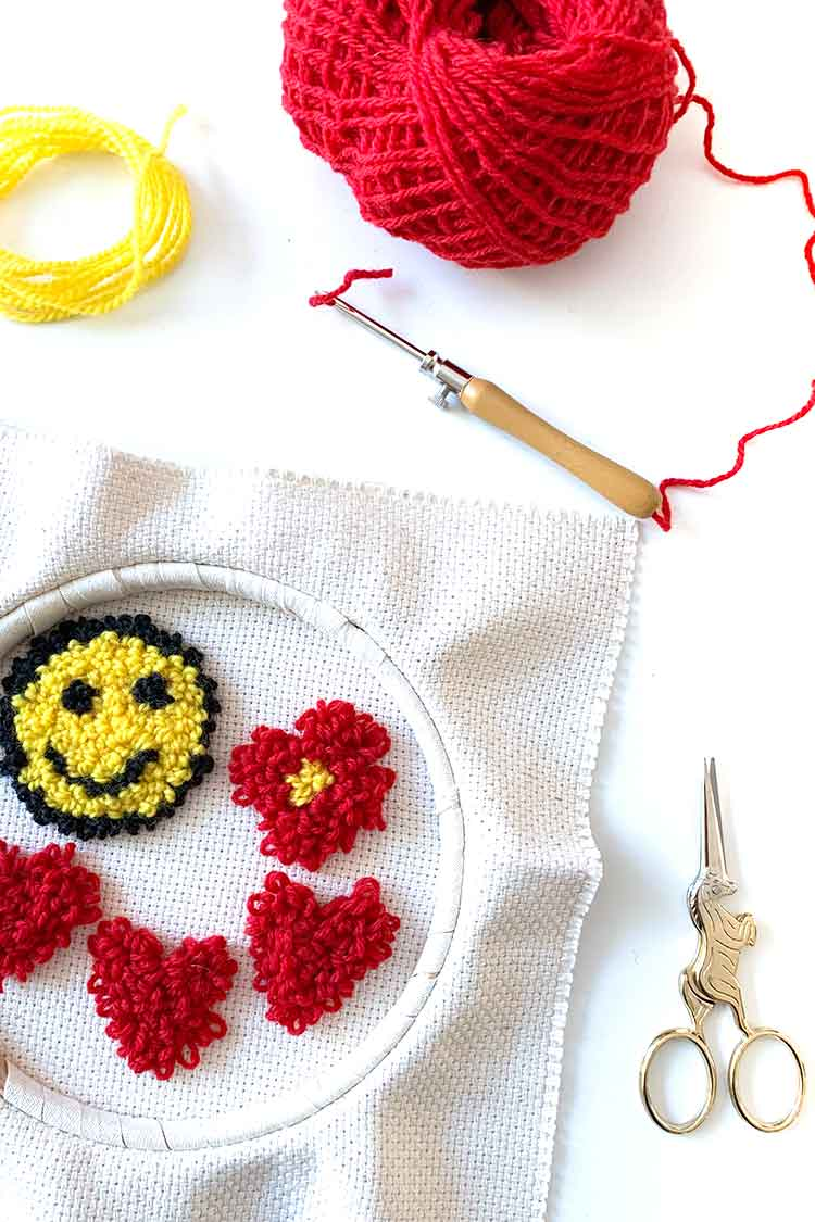 how to make punch needle patches for beginners