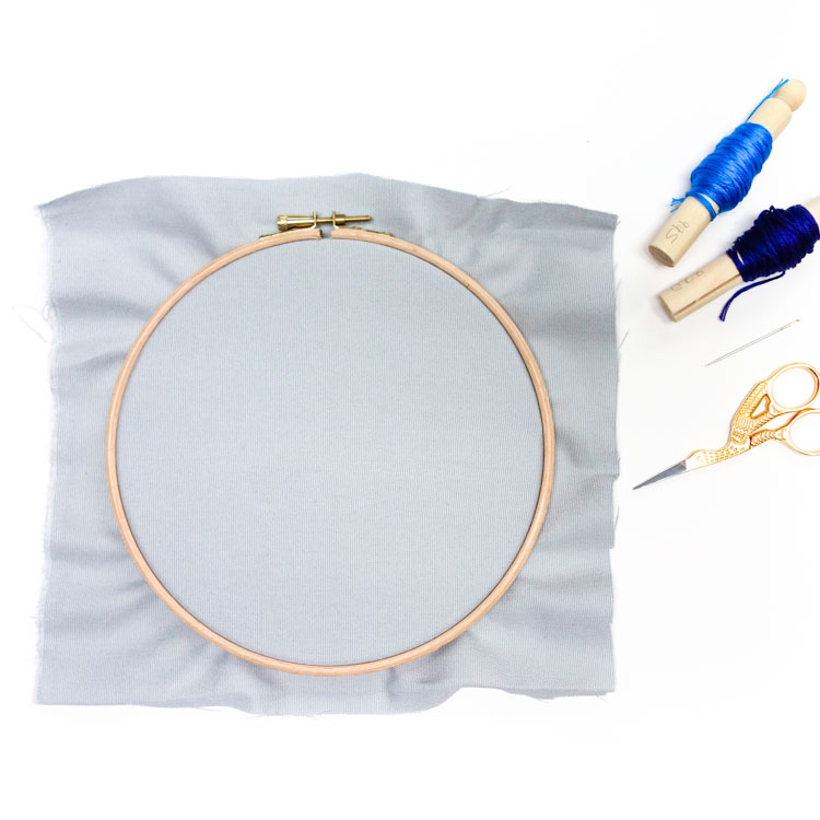 how to prepare your hoop for embroidery