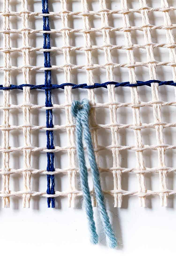 how to make fringes in latch hooking