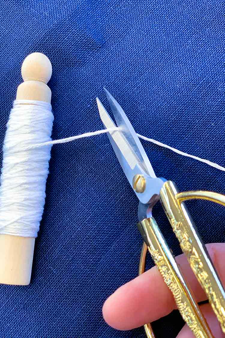 how to sashiko stitch cut floss