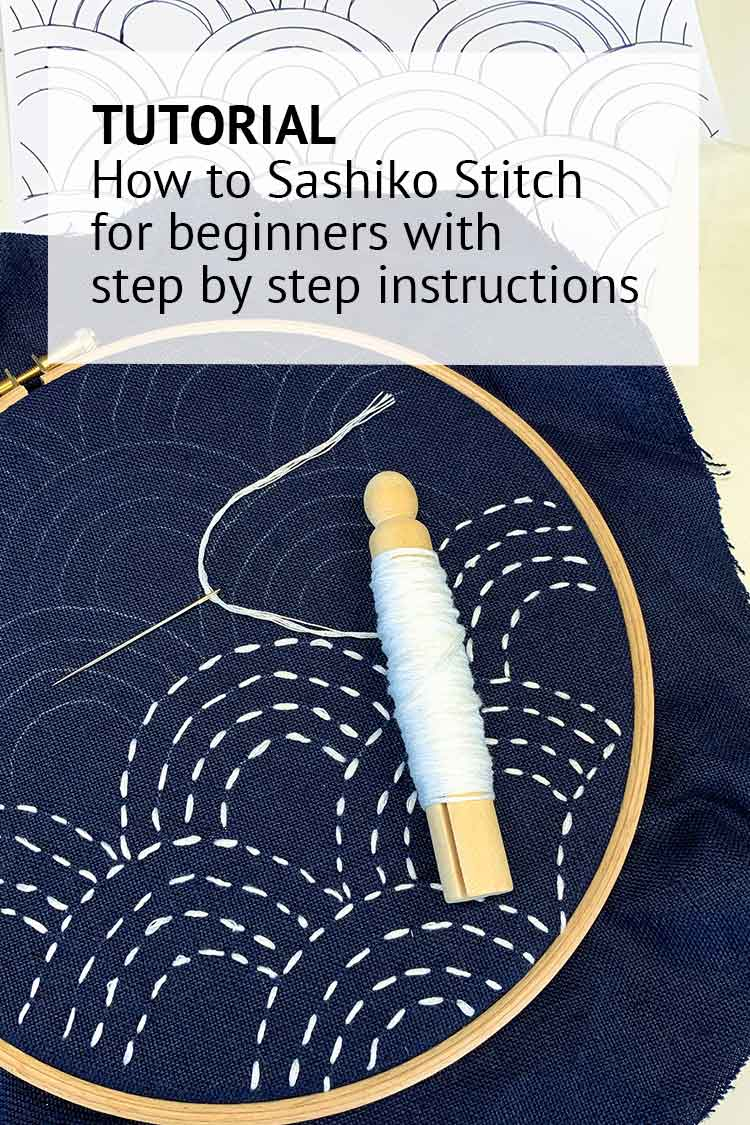 how to sashiko stitch instructions