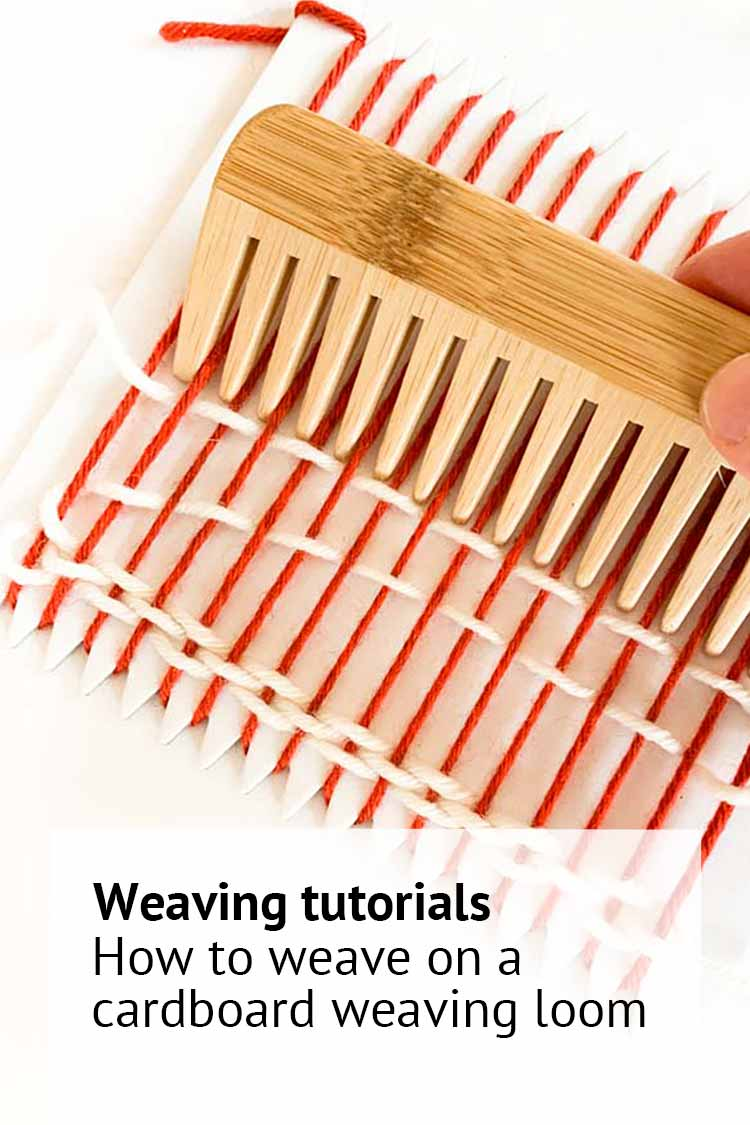 how to use a cardboard weaving loom for beginners