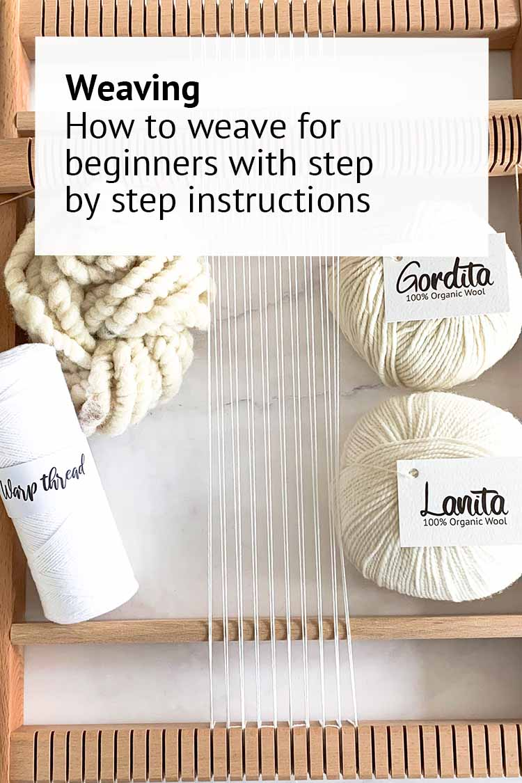 how to weave for beginners step by step tutorial